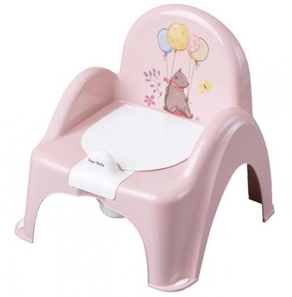 Tega Baby Nočník / stolička Medvedík  - pudrový