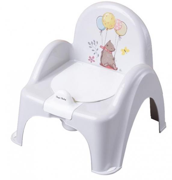 Tega Baby Nočník / stolička Medvedík  - sivý