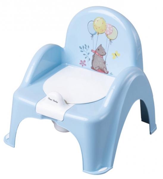 Tega Baby Nočník / stolička Medvedík  - modrý