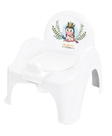 Tega Baby Nočník / stolička Jednorožec  - biely