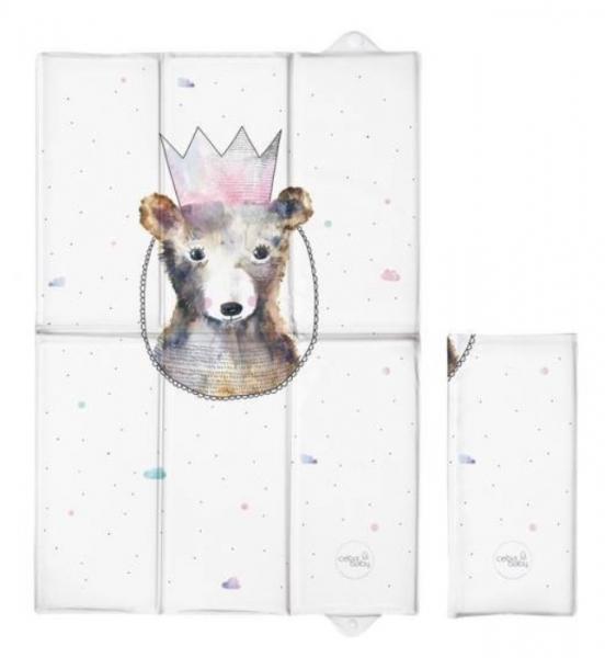 Ceba Baby Cestovná prebaľovacia podložka Medvedík s korunkou, 60 x 40 cm