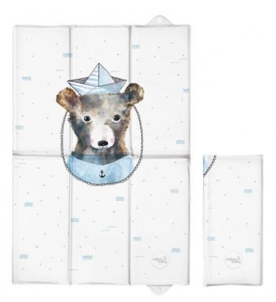 Ceba Baby Cestovná prebaľovacia podložka Medvedík Námorník, 60 x 40 cm