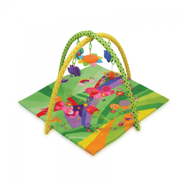 Hracia deka, podložka s hrazdou Lorelli Fairy Tales 89x94cm, green
