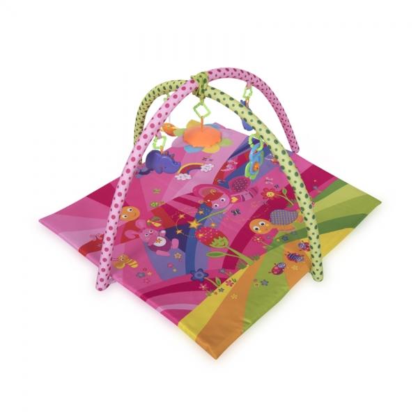 Hracia deka, podložka s hrazdou Lorelli Fairy Tales 89x94cm, pink