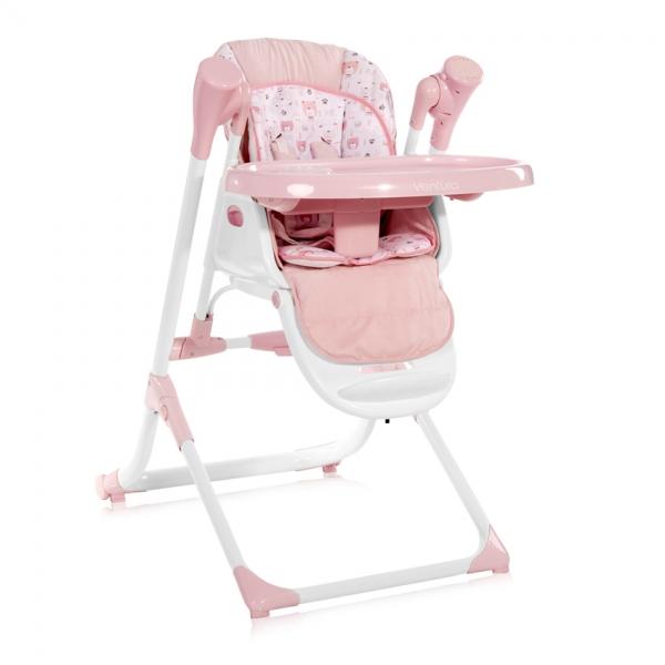 2v1 Jedálenská stolička-hojdačka Lorella VENTURA PINK