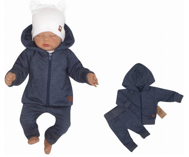 Z & Z 2-dielná bavlnená tepláková súprava Hviezdička - jeans, veľ. 86-#Velikost koj. oblečení;86 (12-18m)