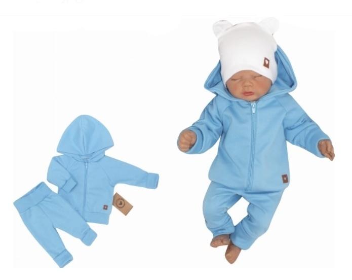 Z & Z 2-dielná bavlnená tepláková súprava Hviezdička - modrá, veľ. 74-#Velikost koj. oblečení;74 (6-9m)