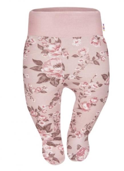 Baby Nellys Bavlnené polodupačky Divoké ruže - staroružové-#Velikost koj. oblečení;56 (1-2m)
