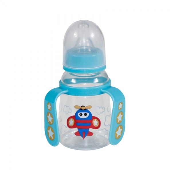 Fľaša/hrnček Lorelli s uškami 125 ml BLUE PLANE