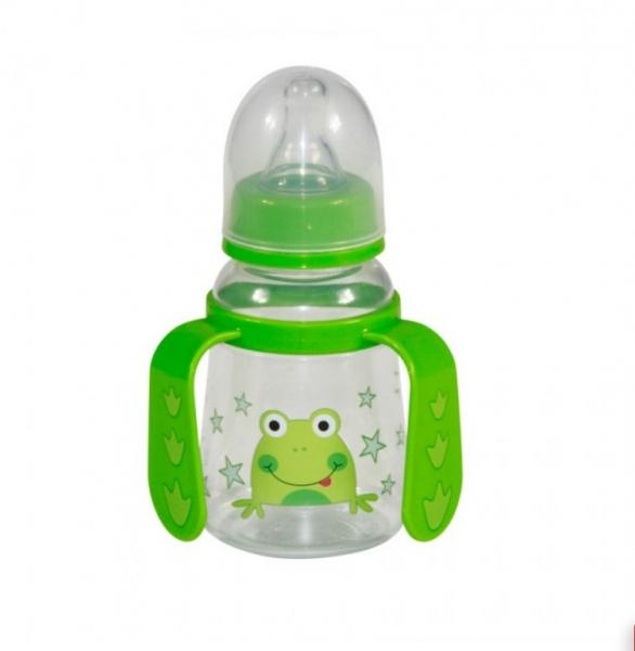 Fľaša/hrnček Lorelli s uškami 125 ml GREEN FROG