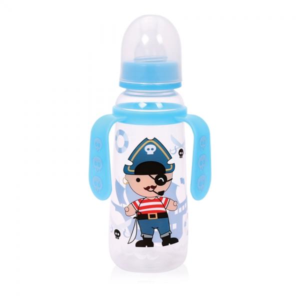 Detská dojčenská fľaša s uškami Lorelli 250 ml BLUE PIRATE