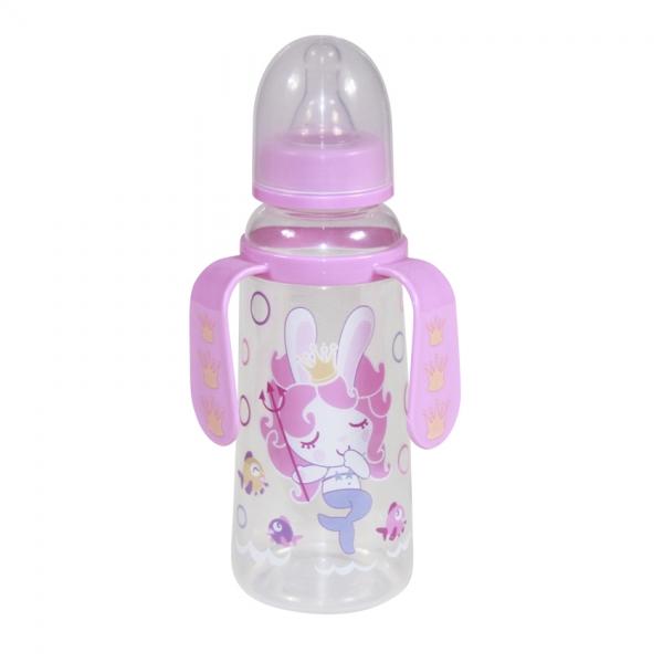 Detská dojčenská fľaša s uškami Lorelli 250 ml PINK MERMAID