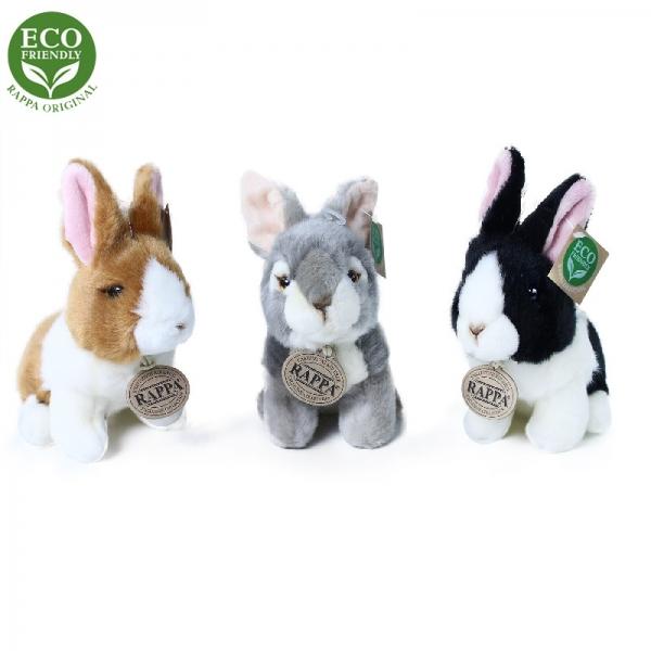 Plyšový králik sediaci 16 cm ECO-FRIENDLY
