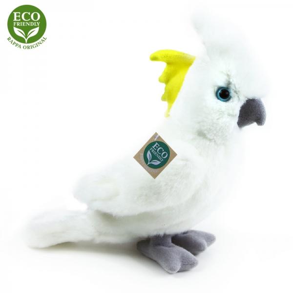 Plyšový papagáj kakadu 17 cm ECO-FRIENDLY