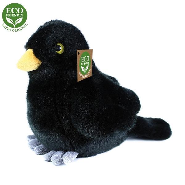 Plyšový vták kos stojacy 20 cm ECO-FRIENDLY