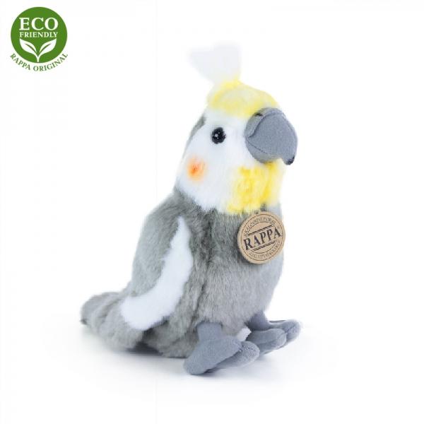 Plyšový papagáj korela 20cm ECO-FRIENDLY
