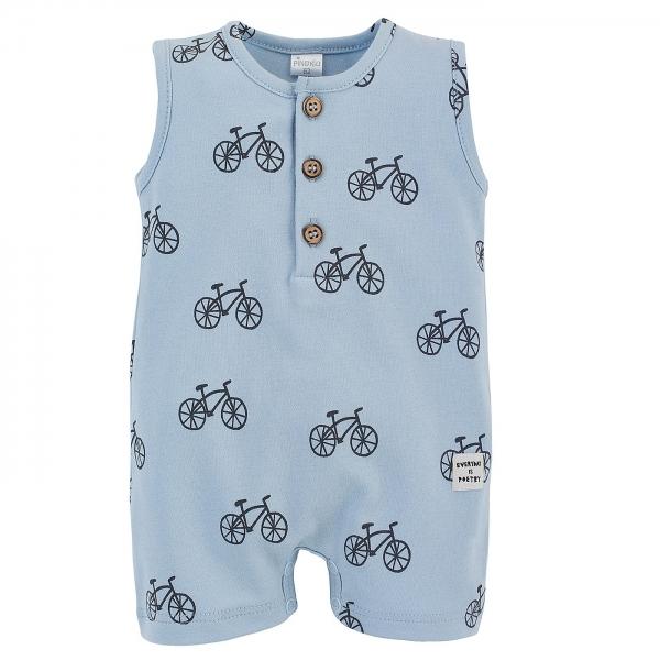 Body s nohavičkami Summertime - Kolesá - modré, veľ. 80