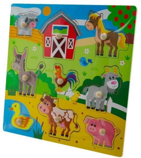 Tulimi Drevené zábavné puzzle vkladacie - Veľká farma