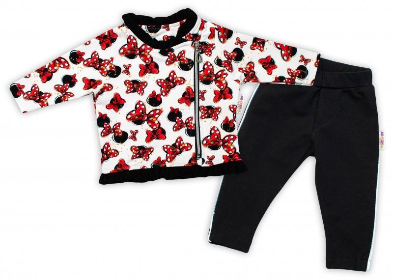 Baby Nellys Detská tepláková súprava Minnie, čierna / smotanová, veľ. 104-#Velikost koj. oblečení;104 (3-4r)
