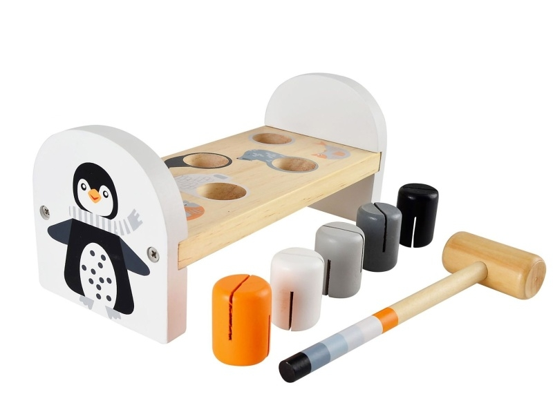 Magni Detská drevená zatĺkačka, Tučniak