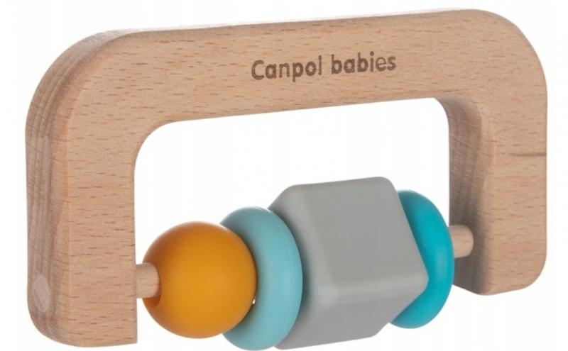 Canpol babies Drevené hryzátko pilka- prírodné
