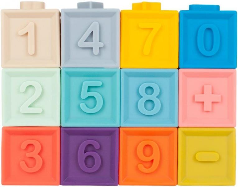 Tulimi Edukačný farebné mäkké kocky 12ks
