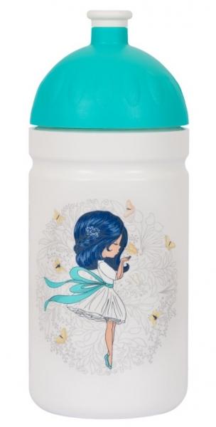 R & B Mědílek s.r.o. Zdravá fľaša - 0.5l - Dievča s mašľou, biela