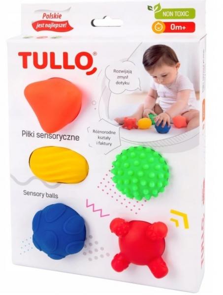 TULLO Edukačné farebné loptičky , 5ks v krabičke, Tvary