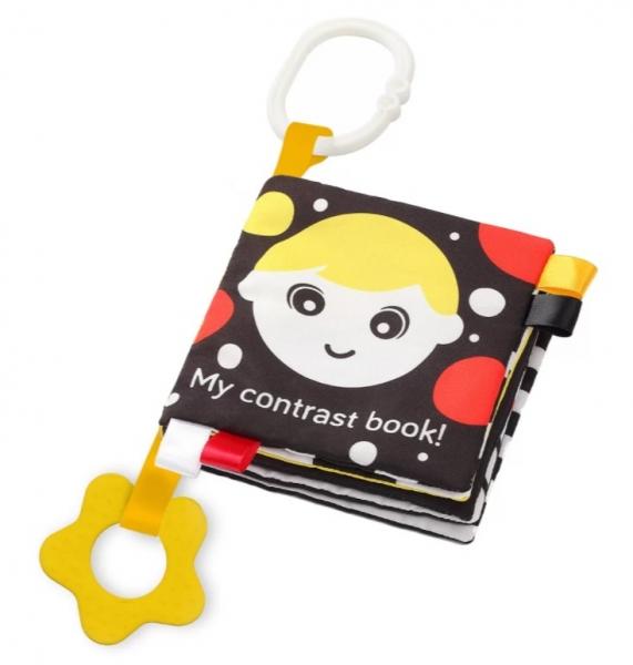 BabyOno Mäkká senzorická knižka - My Contrast book