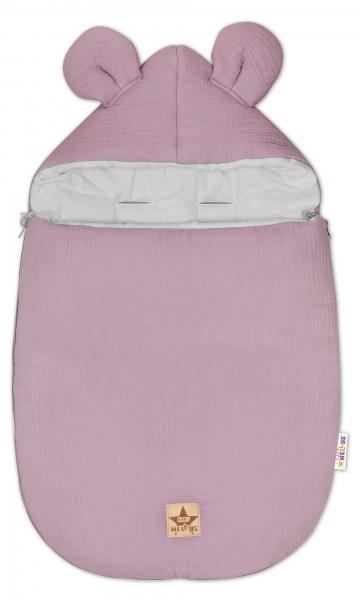 Baby Nellys Luxusné mušelínový fusak, 90 x 50 cm, fialový