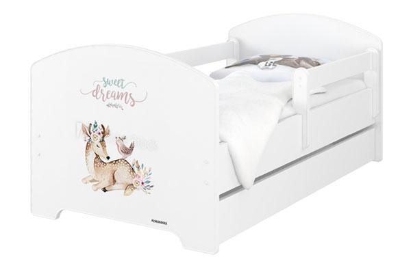 Babyboo Detská posteľ 140 x 70 cm - Sweet Dreams + šuplík