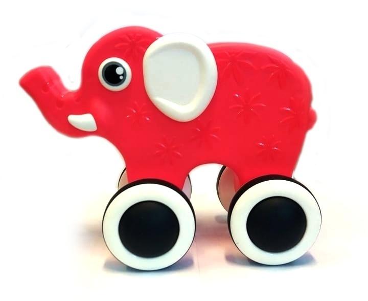 Tulimi Edukačná hračka, ťahacie Sloník - červený