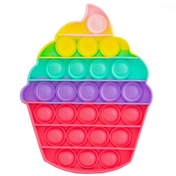 Pop It - Praskající bubliny, silikonová antistresová spol. hra, Zmrzlina