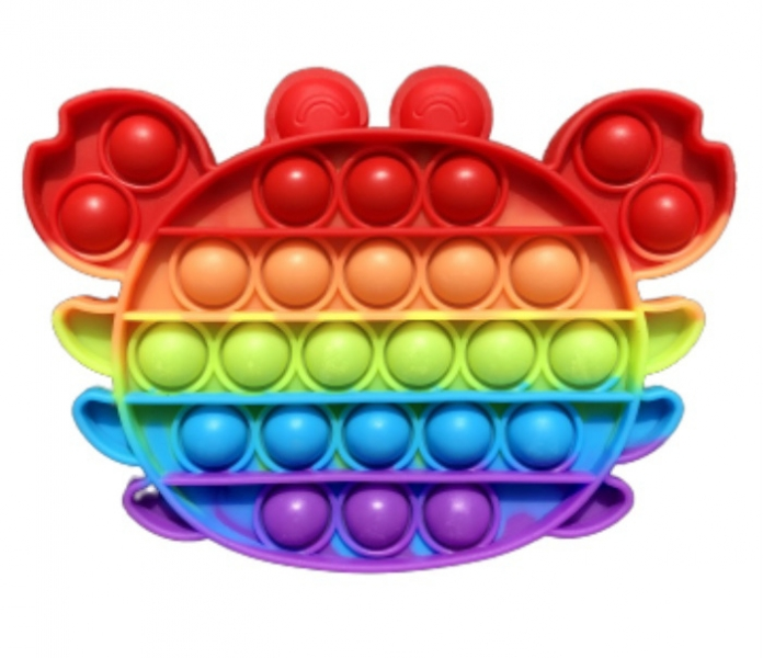 Pop It - Praskající bubliny, silikonová antistresová spol. hra, Krab