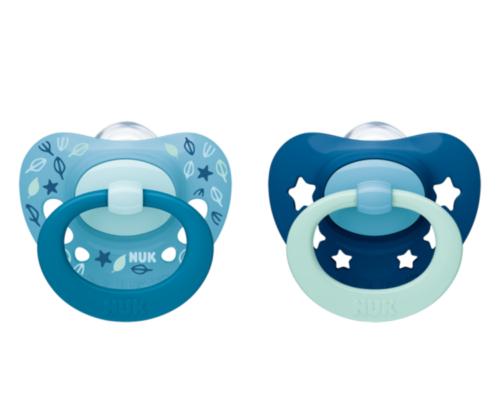 NUK Cumlík Signature Stars, 6-18 m - modrá