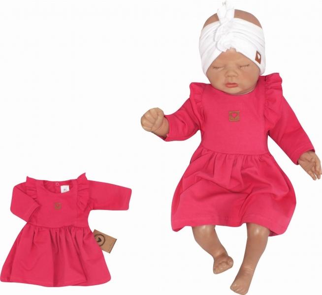 Z & Z Detské teplákové šatôčky/tunika Princess - amarant, veľ. 62