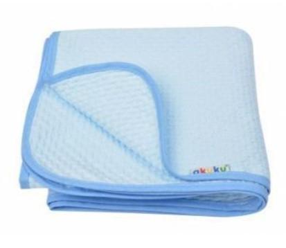 Akuku Detská bavlnená deka, 80x90 cm, modrá