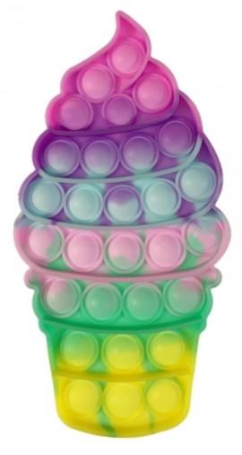 Pop It - Praskající bubliny, silikonová antistresová spol. hra, Točená zmrzlina