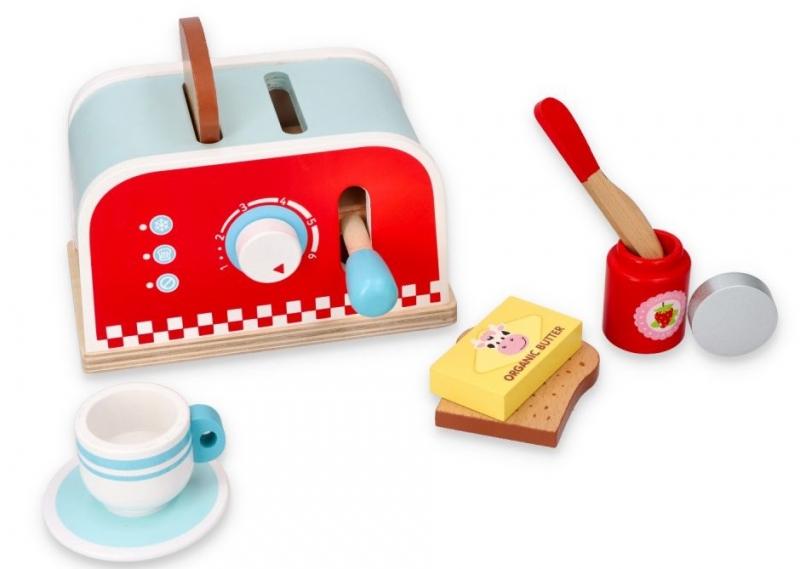 Lelin Drevená hračka - Raňajkový set