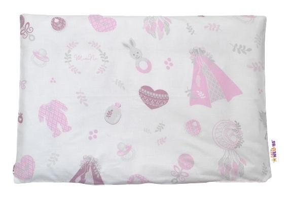Baby Nellys Povlak na vankúšik New Love Baby, 40x60 cm - růžová