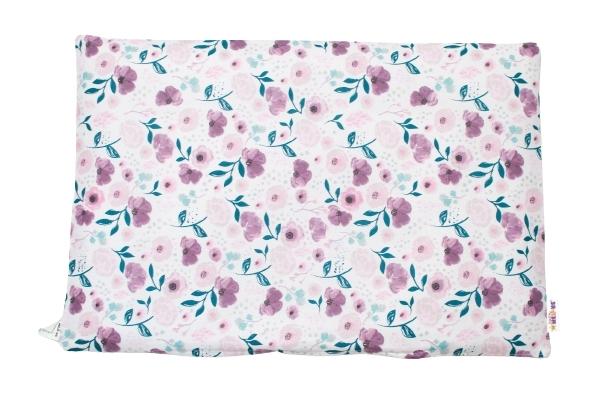 Baby Nellys Povlak na vankúšik Begónie, 40x60 cm - fialová / ružová