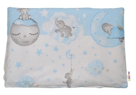 Baby Nellys Povlak na vankúšik Baby Elephant, 40x60 cm - modrý