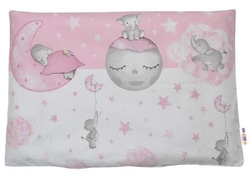 Baby Nellys Povlak na vankúšik Baby Elephant, 40x60 cm - ružový
