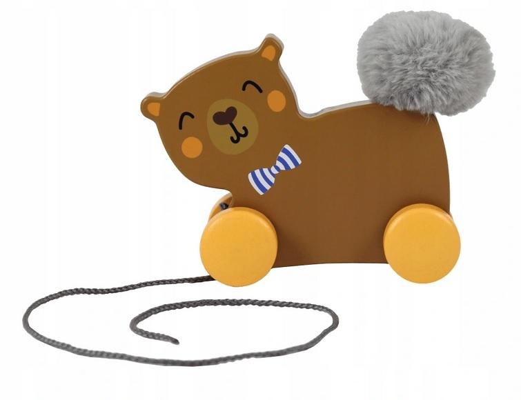 Trefl Edukačná drevená hračka Macko, hnedý