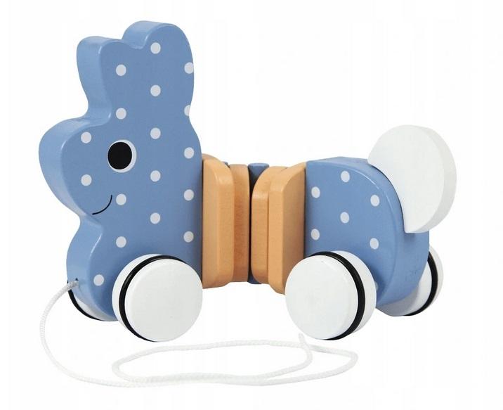 Trefl Edukačná drevená hračka Zajačik, modrá