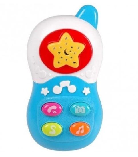 Tulimi udobný telefón s projektorom - modrý