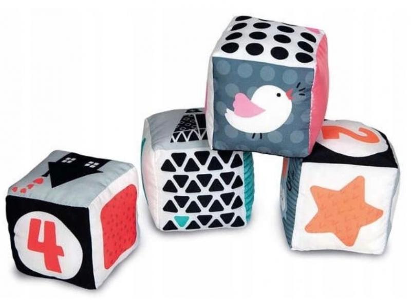 Tulimi Edukačné plyšové kocky so zrkadielkom Zvieratka