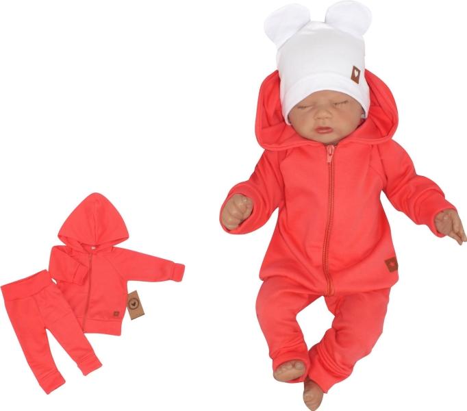 Z & Z 2-dielna bavlnená tepláková súprava Hviezdička - malinová-#Velikost koj. oblečení;56 (1-2m)