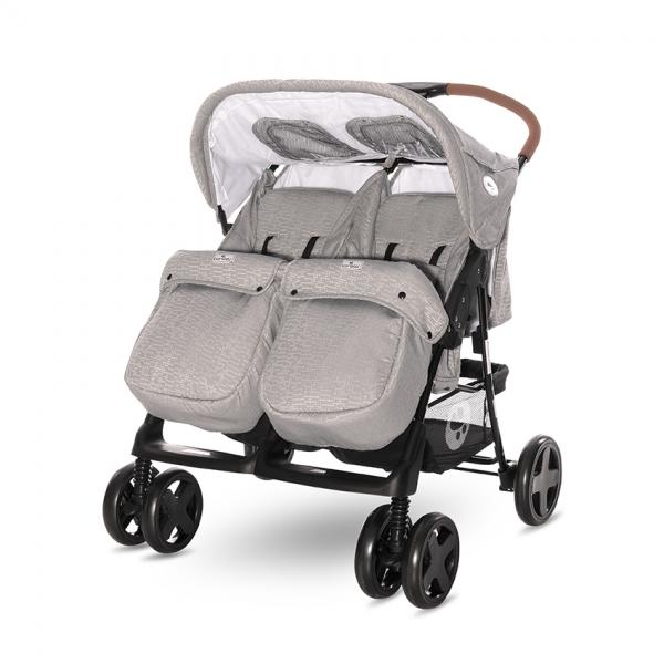 Kočík pre dvojčatá Lorelli TWIN STRING + Taška na kočík