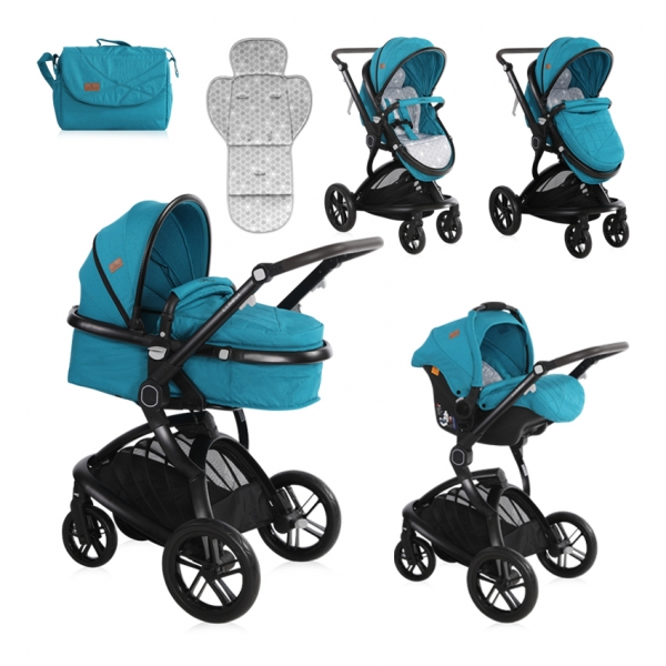 Kočík Lorelli LUMINA (3v1) + Nánožník + Taška na kočík DARK BLUE